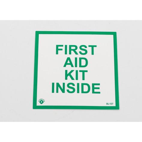 "FIRST AID KIT INSIDE - 4""X4"" -SELF ADHESIVE"