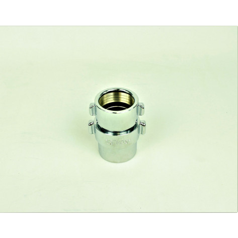 "CHROME PLATED BRASS COUPLINGS FOR 1.5"" NPSH FIRE HOSE"