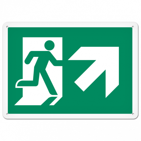 "Running Man Up Right (10"" x 14"") Rigid Plastic"