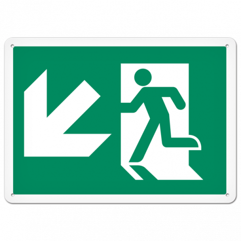 "Running Man Down Left (10"" x 14"") Self adhesive"