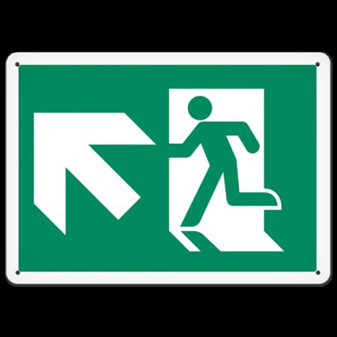 "Running Man Up Left (10"" x 14"") Self adhesive"