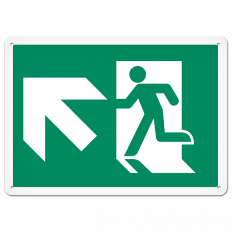 """Running Man Up Left (10"""" x 14"""") Rigid Plastic"""