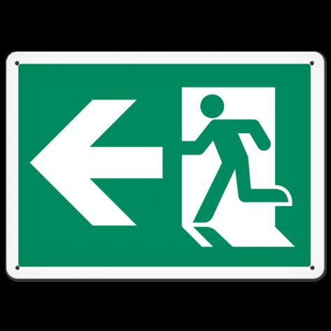 """Running Man Left (10"""" x 14"""") Rigid Plastic"""