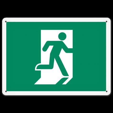 """Running Man (10"""" x 14"""") Rigid Plastic"""