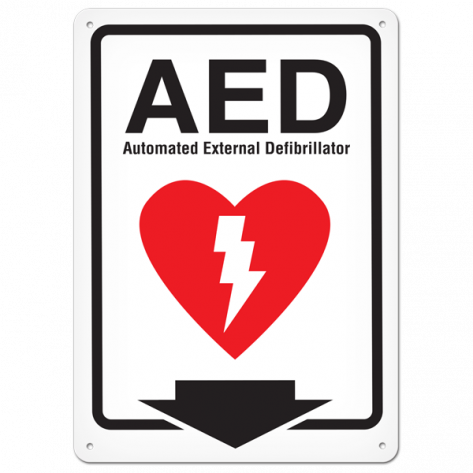 """AED (10"""" x 14"""") Self Adhesive"""