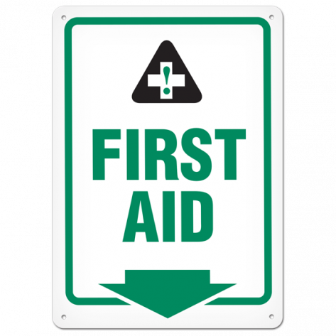 "First Aid (10""x14"") Self Adhesive"