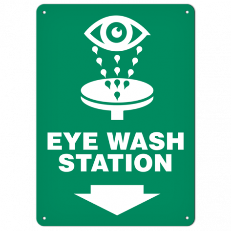 "Eye Wash (10""x14"") Self Adhesive"