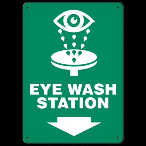 "Eye Wash (10"" x 14"") Rigid Plastic"