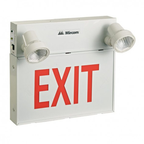 6 Volt Steel LED Emergency Exit Sign Combo