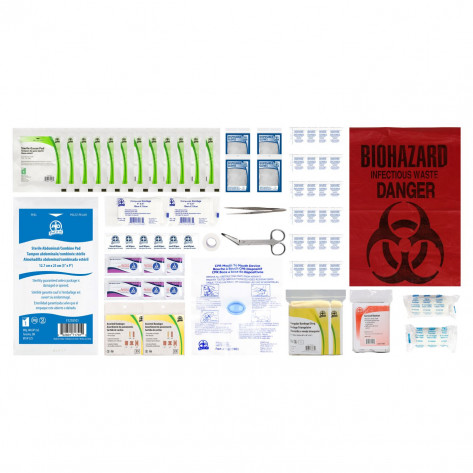 CSA, Type 2, Small Basic Refill Kit (Packaged in a ziplock bag) 2-25 employees per shift