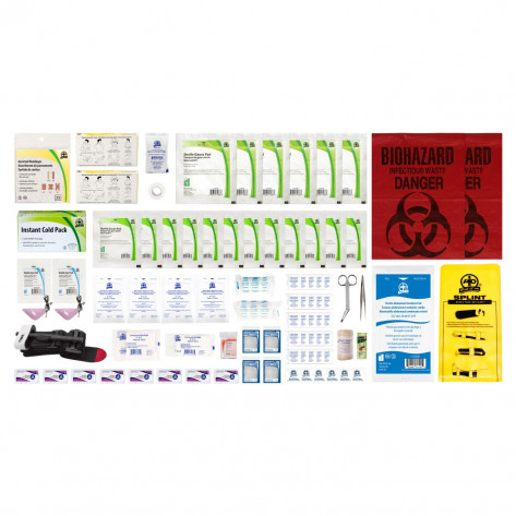 CSA, Type 3, Small Intermediate Unitized Refill Kit (Packaged in a ziplock bag) 2-25 employees per shift