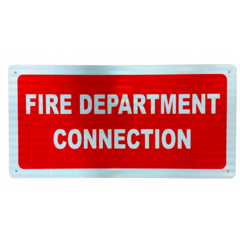 "Fire Department Connection Sign 12"" x 24"""