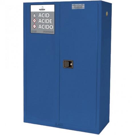 NOSREDNA 45 GALLON MANUAL DOOR ACID CORROSIVE CABINET 65 X 43 X 18 FM APPROVED