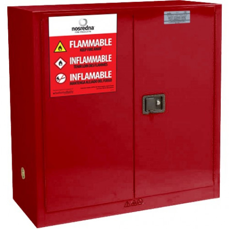 NOSREDNA 40-48 GAL MANUAL DOOR  PAINT & INK SAFETY CABINET 44 X 43 X 18 FM APPROVED