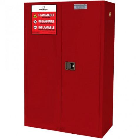 NOSREDNA 60-72 GAL MANUAL DOOR PAINT & INK SAFETY CABINET 65 X 43 X 18 FM APPROVED