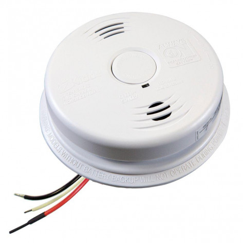 AC Wire-In Combination Smoke & Carbon Monoxide (CO) Alarm Sealed Lithium Battery Backup Worry-Free