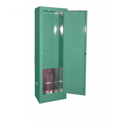 """1-2 D, E Cylinder Self-Latch Standard Door, Fire Lined ; Dimension 44""""H x 14""""W x 9""""D; Holds 1-2 D, E Cylinders; Approx. Ship. Wt. 112 Lbs."""