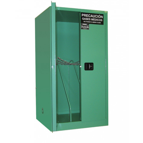 """6-9 Cylinder H Self-Latch Standard Door; Dimension 65""""H x 34""""W x 34""""D; Holds 6-9 H Cylinders; Approx. Ship. Wt. 372 Lbs."""