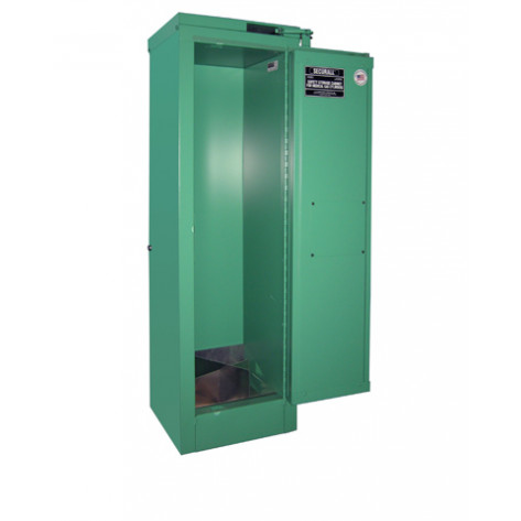 """2-4 Cylinder D, E  Self-Latch Self-Close Safe-T-Door, Fire Lined; Dimension 46""""H x 14""""W x 13-5/8""""D; Holds 2-4 D, E Cylinders; Approx. Ship. Wt. 145 Lbs."""
