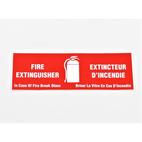 "Fire Extinguisher -In case of Fire Break Glass 6""x2"""