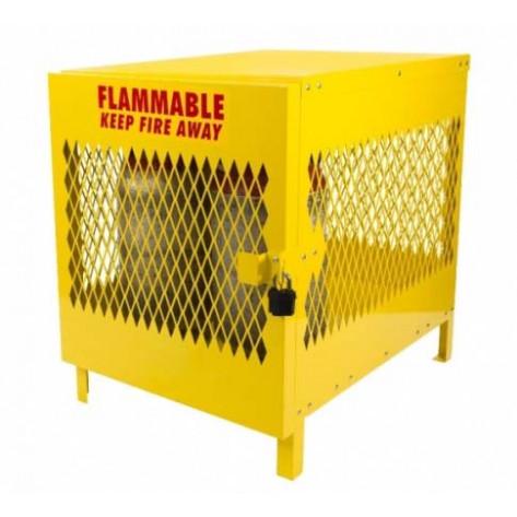 4 Cylinder Steel Vertical Propane Locker 40 X 31 X 42 Yellow