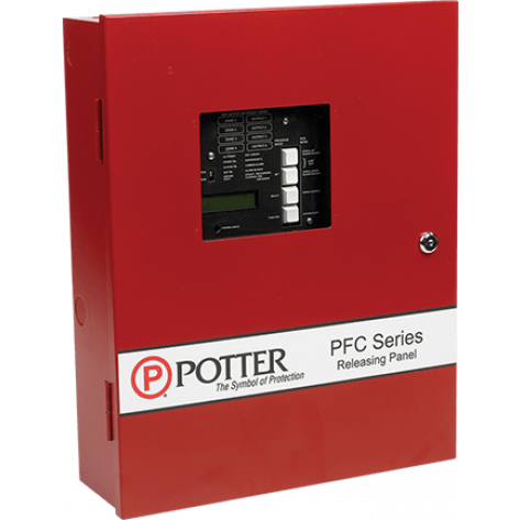 PFC-4410RC UL/ULC Conventional Releasing Control Panel RED CABINET