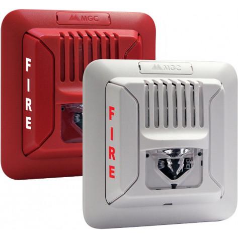 White Fire Alarm Horn/Strobe