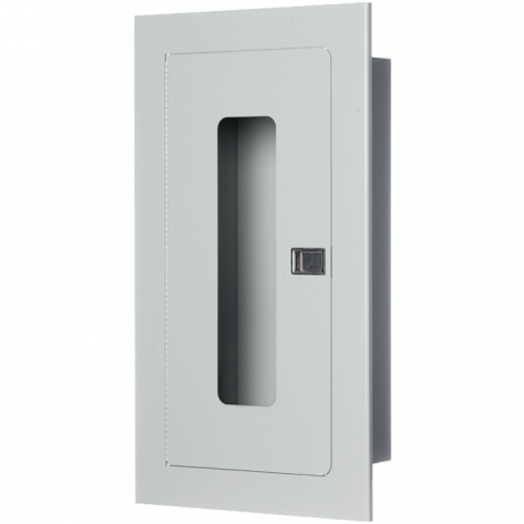 5LB RECESSED EXTINGUISHER CABINET GREY FIRE RATED
