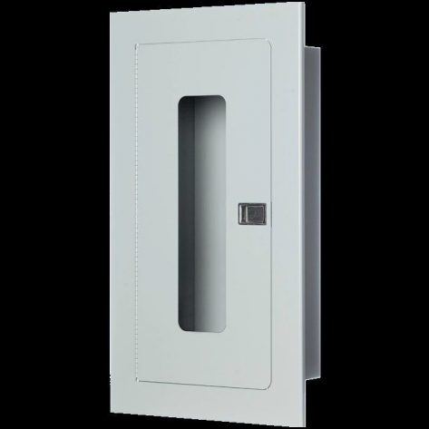 5LB RECESSED EXTINGUISHER CABINET-WHITE -FIRE RATED