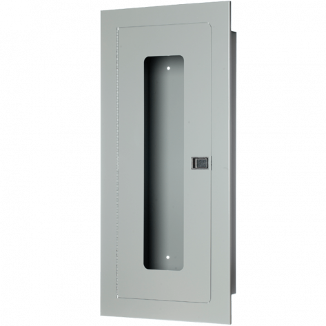 20LB RECESSED EXTINGUISHER CABINET-GREY-FIRE RATED