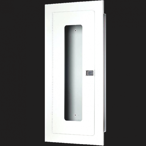 20LB RECESSED EXTINGUISHER CABINET-STAINLESS STEEL FIRE RATED