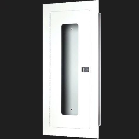 10LB RECESSED EXTINGUISHER CABINET-WHITE