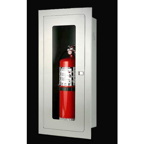 10LB CO2 RECESSED EXTINGUISHER CABINET-WHITE
