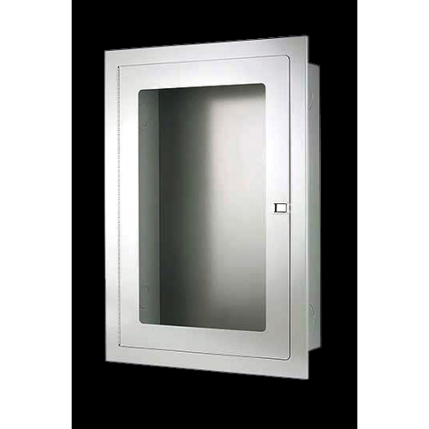 RECESSED FIRE HOSE CABINET 22 X30 X8 STAINLESS STEEL