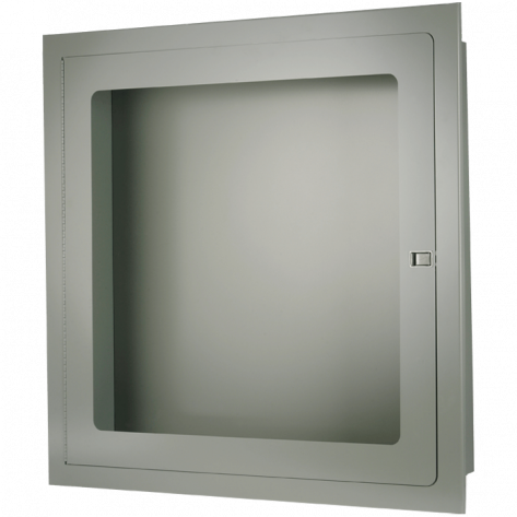 RECESSED FIRE HOSE CABINET 30 X30 X8 STAINLESS STEEL