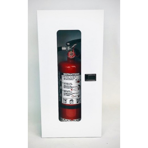 5LB SURFACE MOUNT EXTINGUISHER CABINET-WHITE