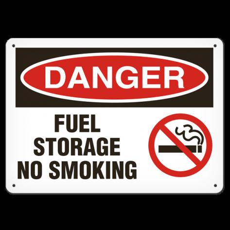"""DANGER Fuel Storage (10""""x14"""") Rigid Plastic"""