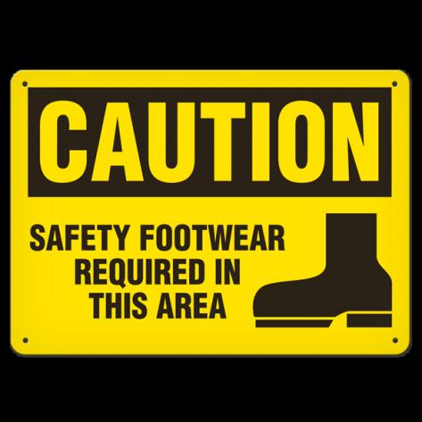 "CAUTION Safety Foot(10""x14"") Rigid Plastic"