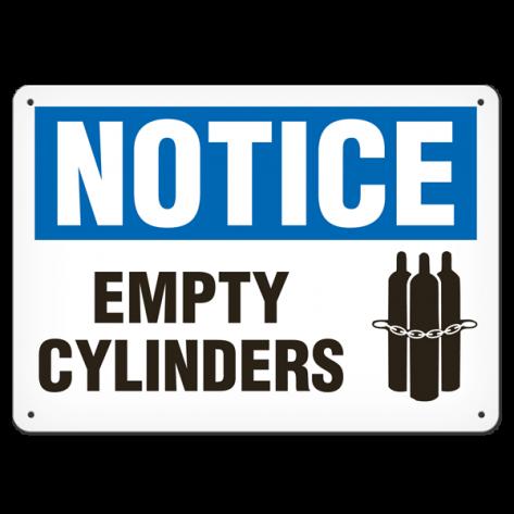 "NOTICE Empty Cylinder (7""x10"") Self Adhesive"