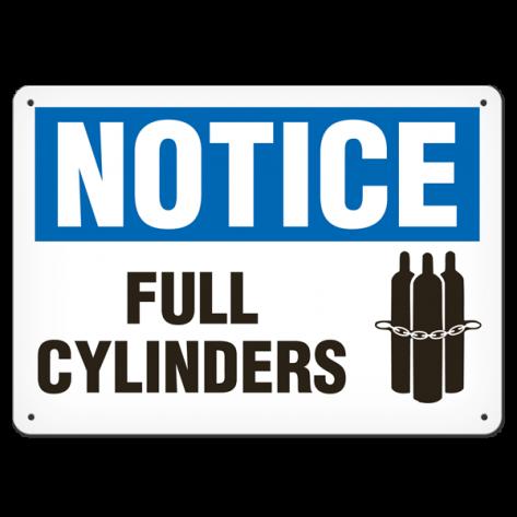 """NOTICE Full Cylinders (10""""x14"""") Rigid Plastic"""