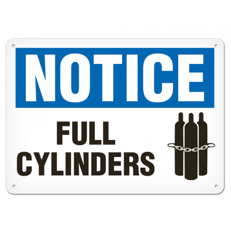 """NOTICE Full Cylinders (10""""x14"""") Self Adhesive"""