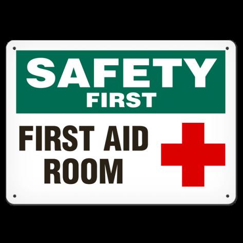 "SAFETY First Aid Room (7""x10"") Rigid Plastic"
