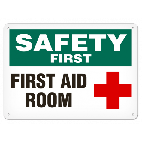 """SAFETY First Aid Room (7""""x10"""") Self Adhesive"""