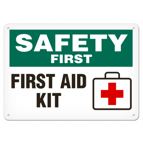 "SAFETY First Kit Inside (10""x14"") Rigid Plastic"