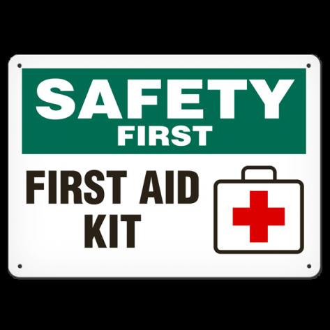 "SAFETY First Aid Kit (7""x10"") Rigid Plastic"