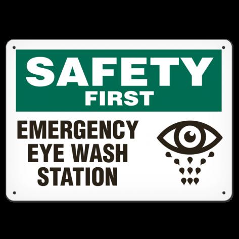 "SAFETY Eye Wash Station (7""x10"") Rigid Plastic"