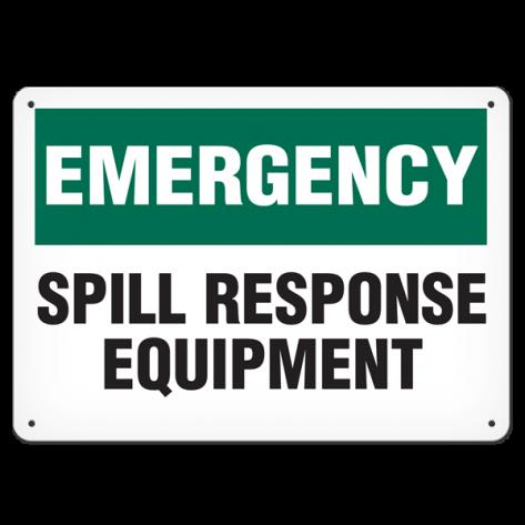 "EMERGENCY Spill Kit Response (10""x14"") Rigid Plastic"