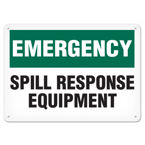 "EMERGENCY Spill Kit Response (7""x10"") Self Adhesive"
