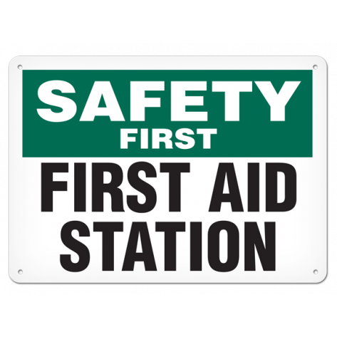 """SAFETY FIRST First Aid Room (10""""x14"""") Rigid Plastic"""