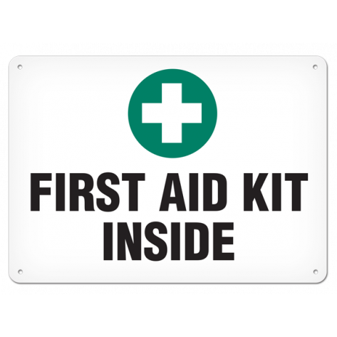 """First Aid Kit Inside (10""""x14"""") Rigid Plastic"""